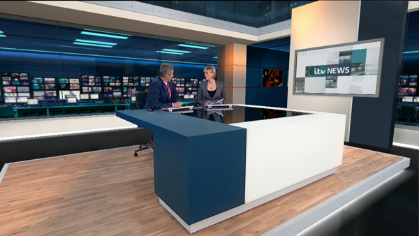 The ITV News at Ten set